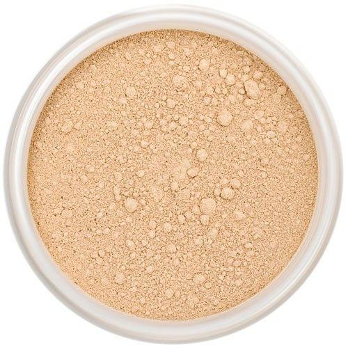 Lily Lolo Warm Honey Mineral Foundation: Gluten free, vegan. A medium foundation shade with warm undertones.