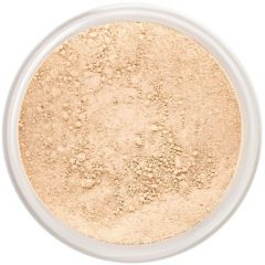 Lily Lolo Barely Buff Mineral Foundation: Gluten free, vegan. A light foundation shade with balanced undertones suitable for light skin tones.