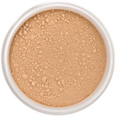 Lily Lolo Coffee Bean Mineral Foundation: Gluten free, vegan. A tan foundation shade with warm undertones.