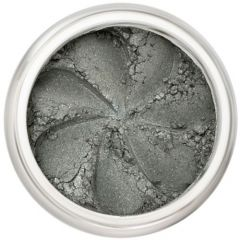 Lily Lolo Mystery Eyes: Vegan Friendly, Gluten Free. A creamy matte grey/green mineral eyeshadow. Mystery makes a great all over wash colour as a base for smoky eyes.